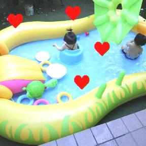 *今日もプール*